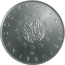 Stříbrná mince Předsedníctví ČR v Radě Evropské unie proof