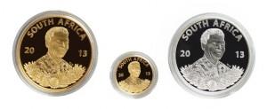 Zlatá mince Protea Prestige Set Nelson Mandela proof 1,1 oz 2013