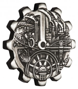 Sada dvou stříbrných mincí Průmyslová revoluce 2 x 1 oz 2018