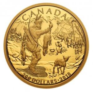 Zlatá mince První obyvatelé Kanady 1/2 oz proof 2018