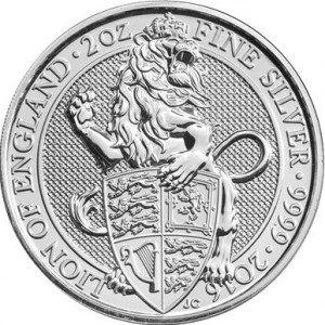 Stříbrná mince The Queen's Beasts The Lion of England 2 oz