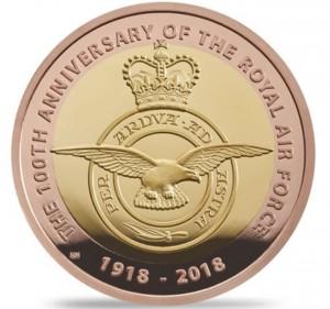 Zlatá mince Badge RAF 1/2 oz 2018