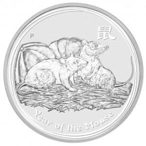 Stříbrná mince Rok Krysy 1 oz BU 2008