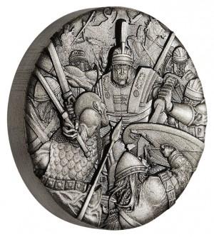 Stříbrná mince Válka Římské legie 2 oz antique finish vysoký reliéf