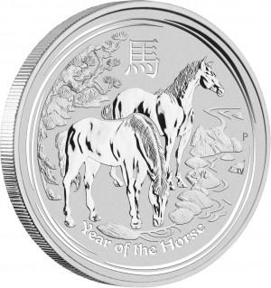 Stříbrná mince Rok Koně 10 kg 2014 Lunární série II