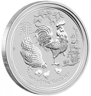 Stříbrná mince Rok Kohouta 2017 5 oz Lunární série II