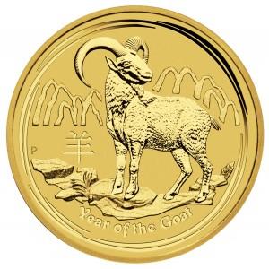 Zlatá mince Rok Kozy 1 oz 2015