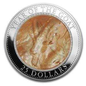 Stříbrná mince Rok Kozy 5 oz 2015 Lunární série II
