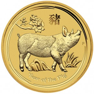 Zlatá mince Rok Vepře 1 oz 2019 Lunární série II