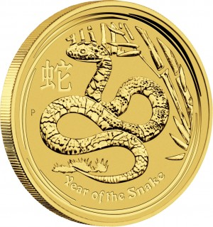 Zlatá mince Rok Hada 1/4 oz proof 2013 Lunární série II