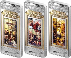 Sada stříbrných mincí Giant Windows of Heaven - Berlin Cathedral 3 x 3 oz proof-like 2017