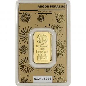 Zlatý investiční slitek Rok Myši 2020 10 g Argor-Heraeus