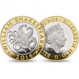 Sada 16 stříbrných pamětních mincí z Velké Británie