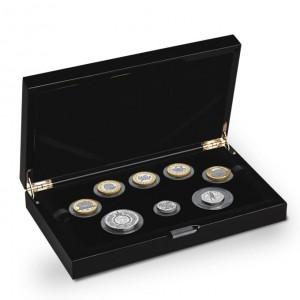 Sada 8 stříbrných pamětních mincí z Velké Británie