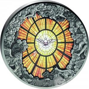 Stříbrná mince Windows of Heaven Bazilika sv. Petra 10 oz