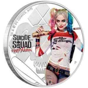 Stříbrná mince Sebevražedný oddíl Harley Quinn 1 oz proof 2019