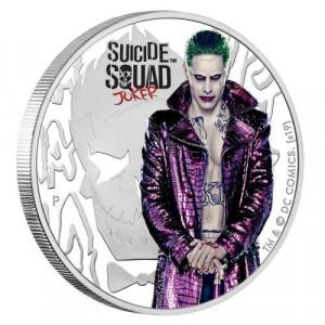 Stříbrná mince Sebevražedný oddíl Joker 1 oz proof 2019