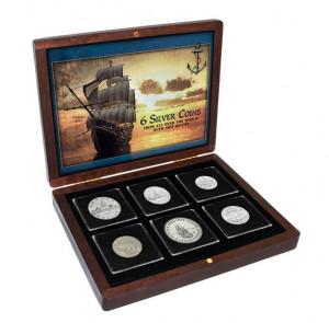 Sada stříbrných mincí s námořní tématikou 1936-2001