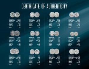 Sada 12 evropských mincí (1873-1968)