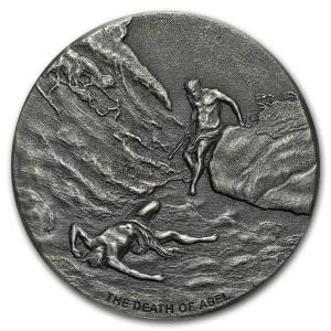 Stříbrná mince Biblická série Smrt Abela 2 oz 2017