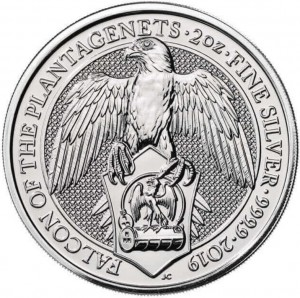 Stříbrná mince The Queen's Beasts Falcon 2 oz