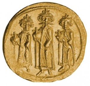 Zlatá mince Heraclius solidus VF-XF
