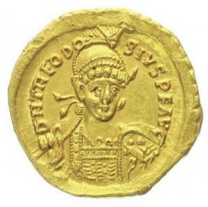 Solidus Theodosia II.