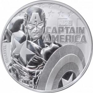 Stříbrná mince Marvel - Captain America 1 oz BU 2019