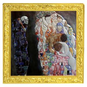 Stříbrná mince Gustav Klimt - Smrt a život 500 g 2021