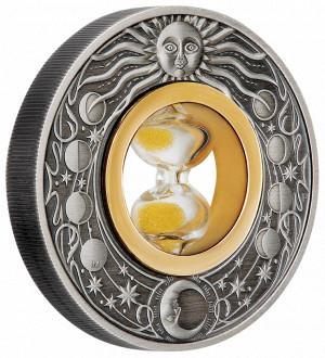 Stříbrná mince Přesýpací hodiny 2 oz antique finish 2021