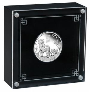 Stříbrná mince Rok Tygra 1/2 oz proof 2022 Lunární série III