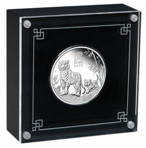 Stříbrná mince Rok Tygra 1 oz proof 2022 Lunární série III