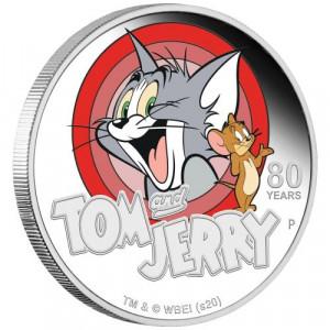 Stříbrná mince Tom a Jerry 1 oz Proof 2020