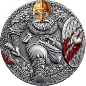 Stříbrná mince Vikingský bojovník 3 oz vysoký reliéf 2020
