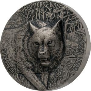 Stříbrná mince Vlk 3 oz vysoký reliéf 2021