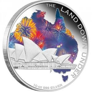 Stříbrná mince Opera v Sydney 10 oz proof 2013