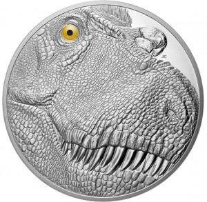 Stříbrná mince Tyrannosaurus Rex 1 kg