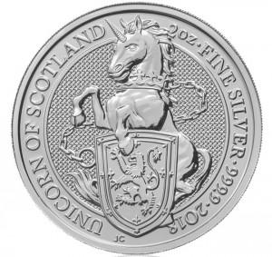 Stříbrná mince The Queen's Beasts The Unicorn 2 oz