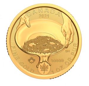 Zlatá mince Klondike Zlatá horečka 1 oz 2021