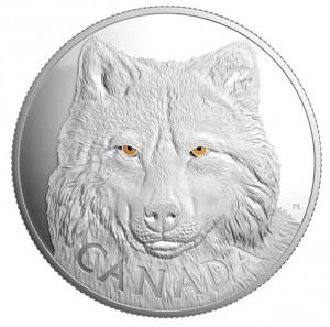 Stříbrná mince V očích vlka 1 kg