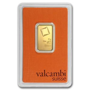 Zlatý investiční slitek 10 g Valcambi