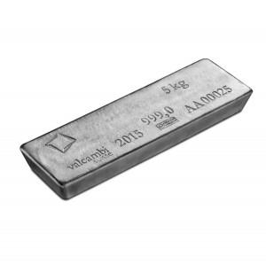 Stříbrný investiční slitek 5 kg Valcambi