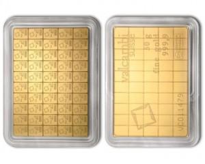 Zlatý investiční slitek CombiBar 50 x 1 g Valcambi