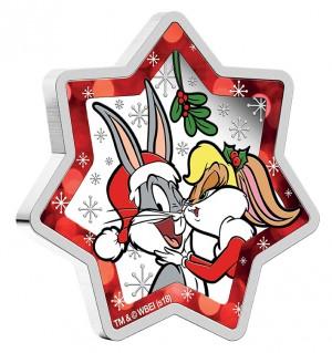 Stříbrná mince Looney Tunes Vánoční hvězda 1 oz proof 2018