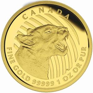 Zlatá mince Vrčící puma 1 oz
