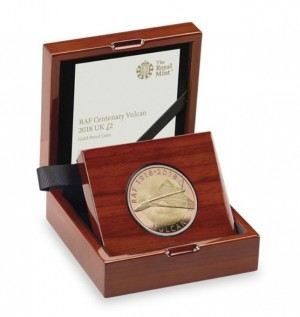 Zlatá mince Vulcan RAF 1/2 oz 2018