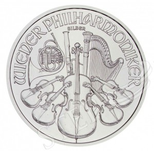 Stříbrná mince Philharmoniker 1 oz