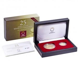 Zlatá mince Wiener Philharmoniker 25. výročí