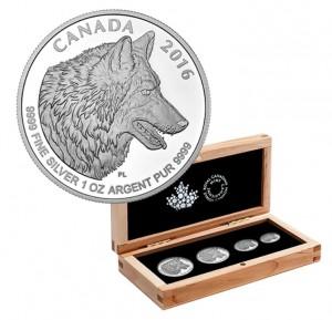 Sada 4 stříbrných mincí Kanada