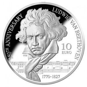 Stříbrná mince Ludwig van Beethoven 28 g proof 2020